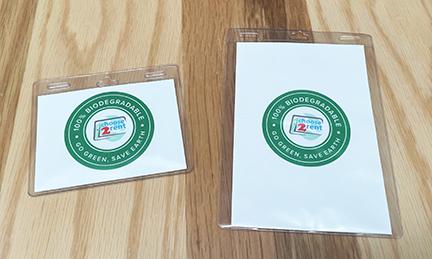 Biodegradable Badge Holder